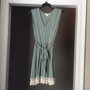 Soft tie up sleeveless dress